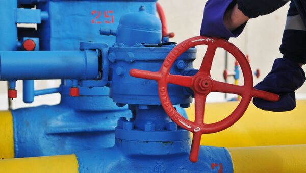 Ventil na plynovodou na Ukrajině. Ilustrační foto - Sputnik Česká republika
