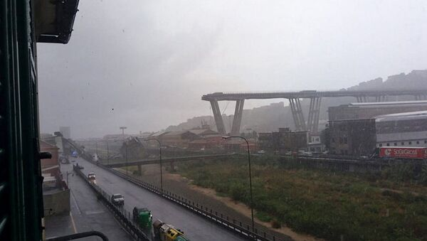 Zřícený most u Janova, Itálie - Sputnik Česká republika