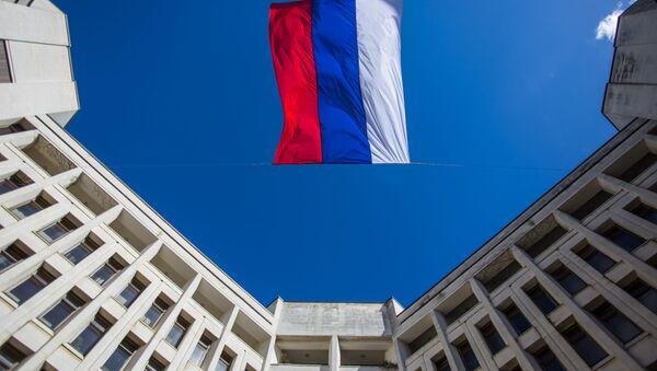 Ruská vlajka v Simferopolu - Sputnik Česká republika