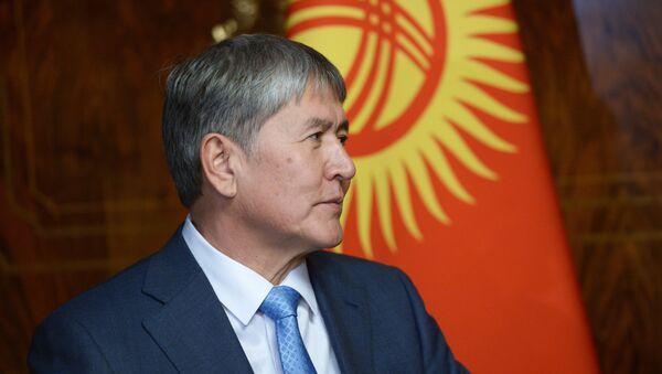 Kyrgyzský prezident Almazbek Atambajev - Sputnik Česká republika