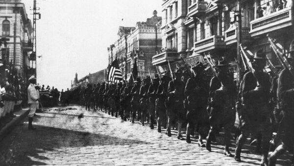 Americká vojska ve Vladivostoku na jaře 1918 - Sputnik Česká republika