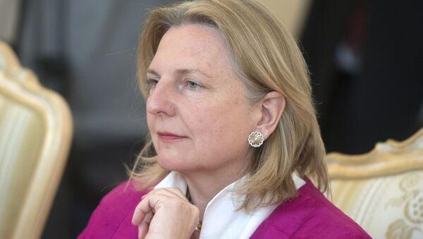 rakouská ministryně zahraničních věcí Karin Kneisslová - Sputnik Česká republika