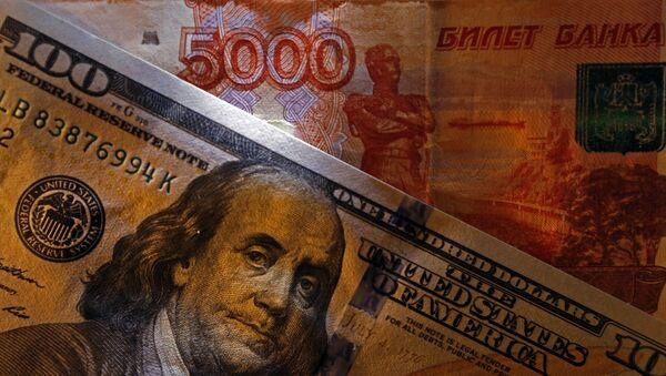 Bankovky Ruska a USA - Sputnik Česká republika