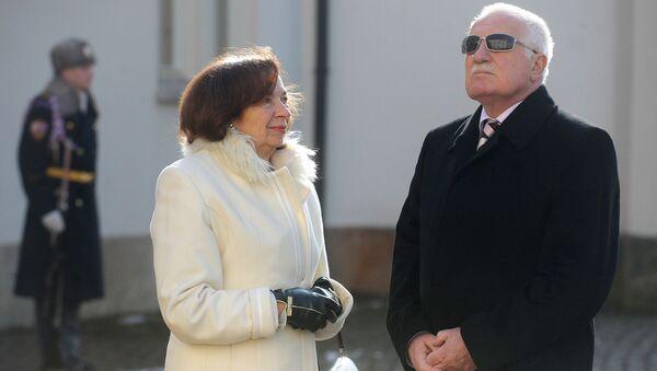 Václav Klaus s manželku, 2012 - Sputnik Česká republika
