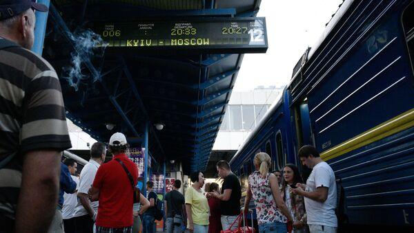 Vlaky do Moskvy na nádraží v Kyjevě - Sputnik Česká republika