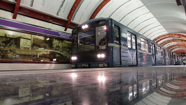 Stanice metra v Petrohradu. Ilustrační foto - Sputnik Česká republika