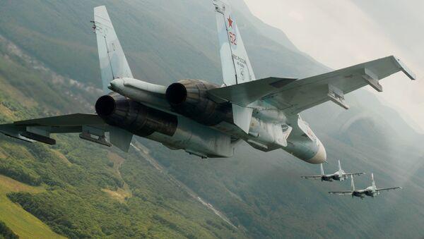 Stíhačky Su-27. Ilustrační foto - Sputnik Česká republika