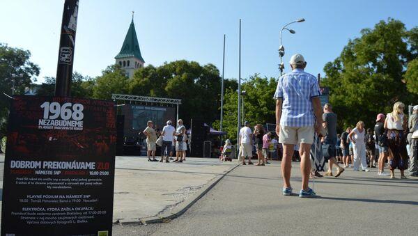 Akce v Bratislavě - Sputnik Česká republika