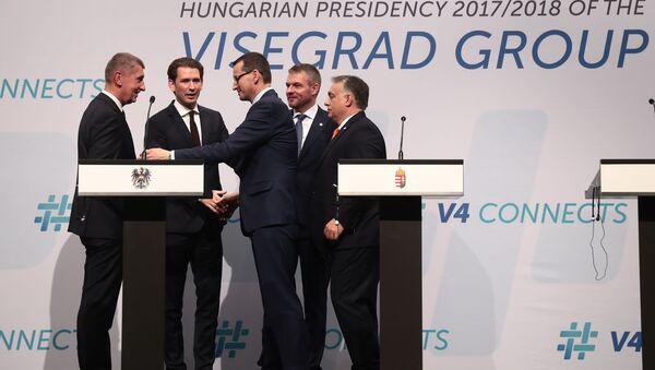 Andrej Babiš, Sebastian Kurz, Mateusz Morawiecki, Peter Pellegrini a Viktor Orbán - Sputnik Česká republika