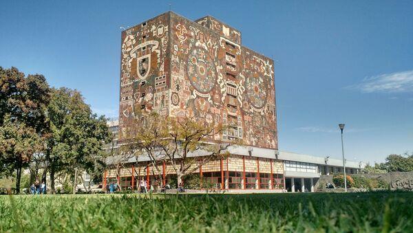 Budova knihovn Mexické národní autonomní univerzity - Sputnik Česká republika