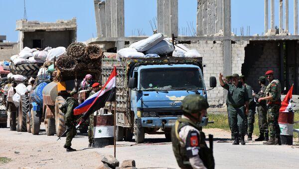 Humanitární konvoj v Sýrii - Sputnik Česká republika