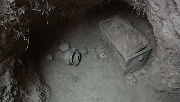 Hrobka nalezená v oblasti Ierapetra na Krétě - Sputnik Česká republika
