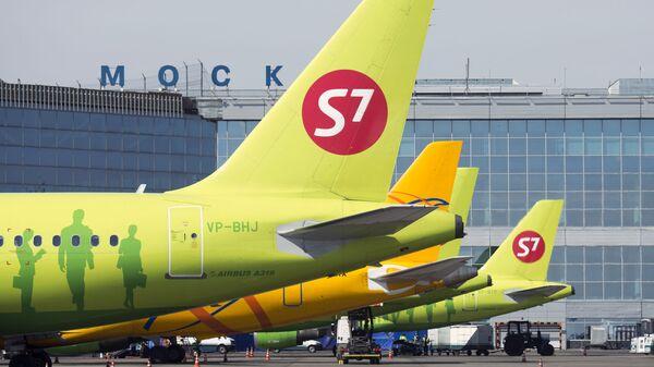 Самолеты авиакомпании s7 Airlines в аэропорту Домодедово - Sputnik Česká republika