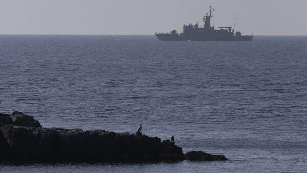 Loď řeckého námořnictva v Egejském moři - Sputnik Česká republika