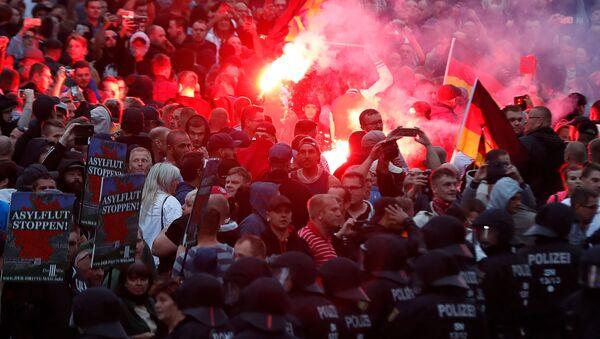 Protesty v Chemnitz po vraždě Němce - Sputnik Česká republika