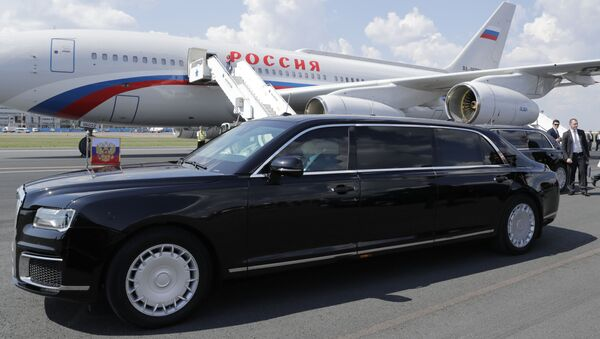 Putinova limuzína Aurus Senat - Sputnik Česká republika