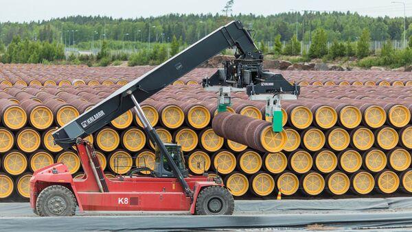 Potrubí pro Severní proud 2 ve Finsku - Sputnik Česká republika