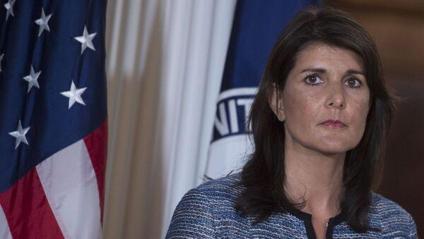 Stálá zástupkyně USA při OSN Nikki Haleyová - Sputnik Česká republika