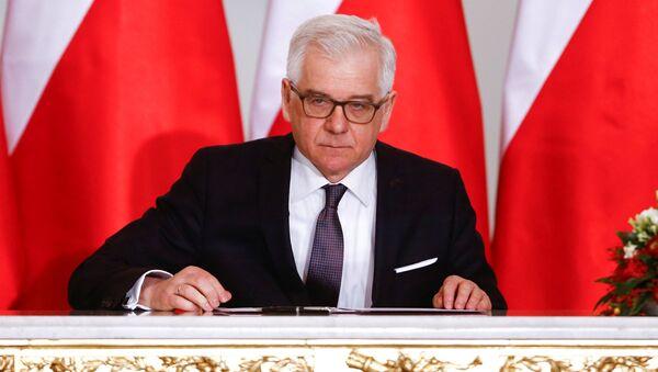 Polský ministr zahraničí Jacek Czaputowicz - Sputnik Česká republika