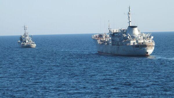 Ukrajinské lodě u krymského pobřeží. Ilustrační foto - Sputnik Česká republika