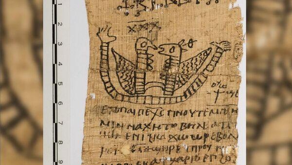 Egyptský papyrus s milostným zaklínadlem - Sputnik Česká republika