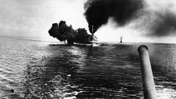 SMS Schleswig-Holstein během boje - Sputnik Česká republika