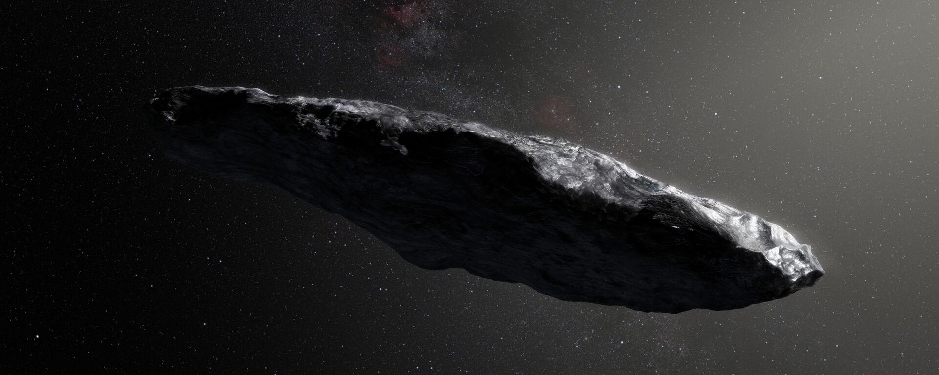 Umělecká podoba planetky Oumuamua - Sputnik Česká republika, 1920, 18.03.2021