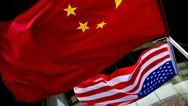Флаги США и Китая - Sputnik Česká republika