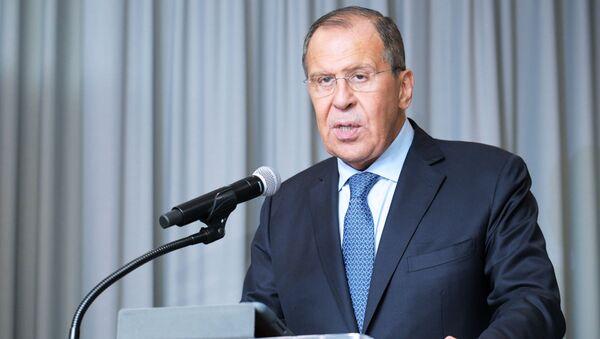 Ruský ministr zahraničí Sergej Lavrov v sídle OSN v New Yorku - Sputnik Česká republika