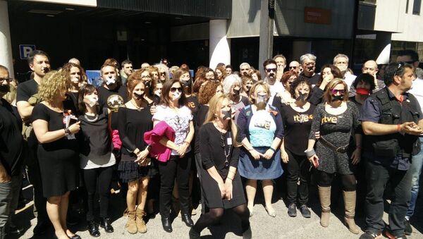 Protestní akce TVE - Sputnik Česká republika