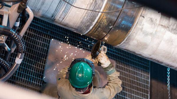 Stavby plynovodu Turecký proud - Sputnik Česká republika