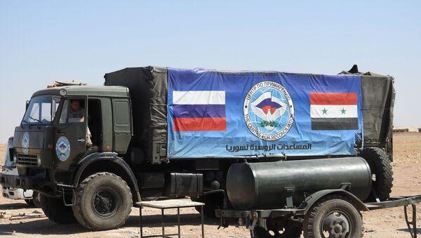 Ruská humanitární pomoc v Sýrii. Ilustrační foto - Sputnik Česká republika