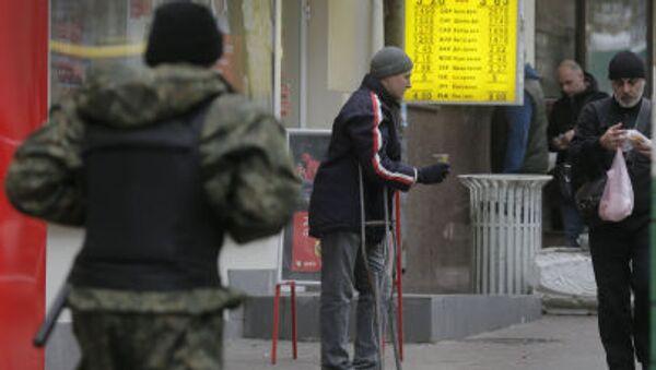 Bezdomovec. Kyjev. - Sputnik Česká republika