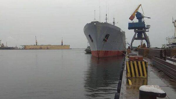 Loď ukrajinského námořnictva v Mariupolu. Ilustrační foto - Sputnik Česká republika