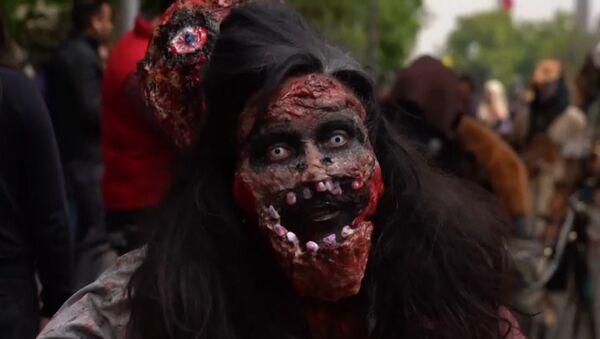Zombie pochod v Chile - Sputnik Česká republika