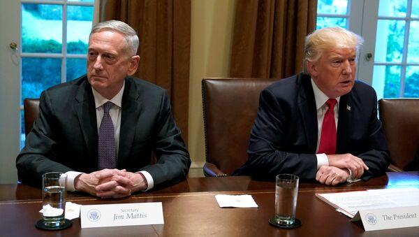 Americký prezident Donald Trump a ministr obrany James Mattis - Sputnik Česká republika
