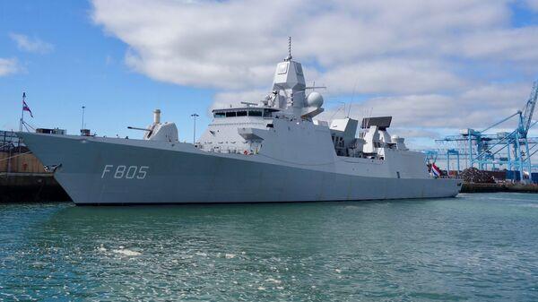Nizozemská vojenská loď HNLMS Evertsen - Sputnik Česká republika