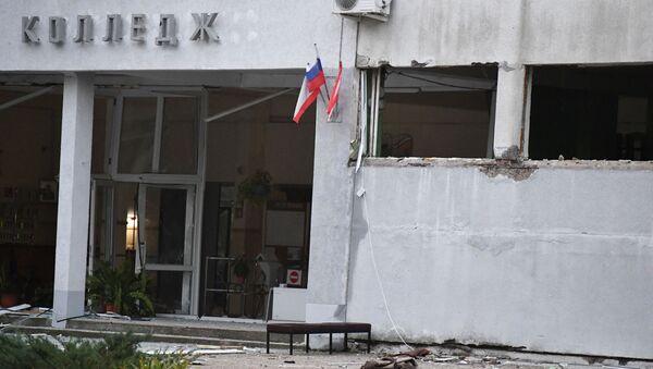 Budova kerčské školy, kde došlo k útoku na studenty - Sputnik Česká republika