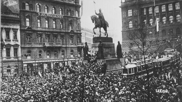 Václavské náměstí v Praze 28. října 1918 - Sputnik Česká republika