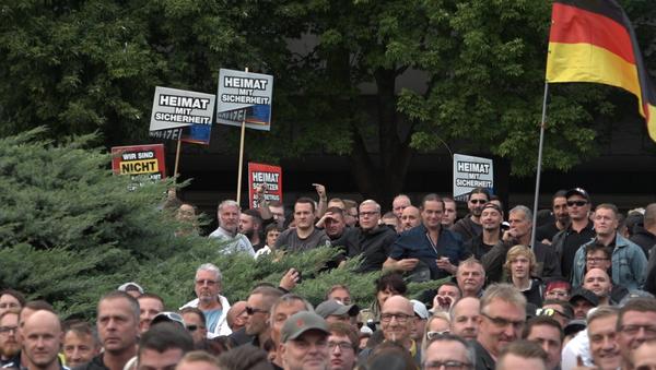 Chemnitz. Demonstrace - Sputnik Česká republika
