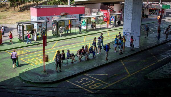 Autobusová zastávka v Bratislavě - Sputnik Česká republika