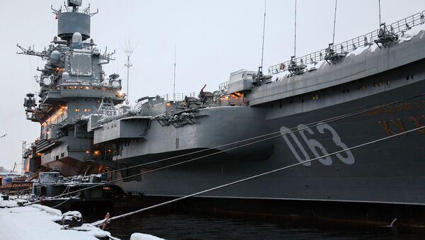 Těžký letadlový křižník Severního loďstva Admiral Kuzněcov - Sputnik Česká republika