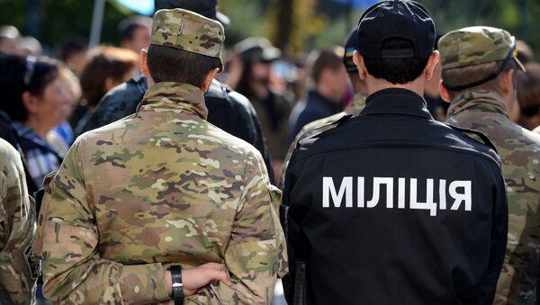 Příslušníci ukrajinských policejních organů - Sputnik Česká republika