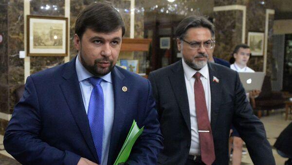 Denis Pušilin a Vladislav Dejnego - Sputnik Česká republika