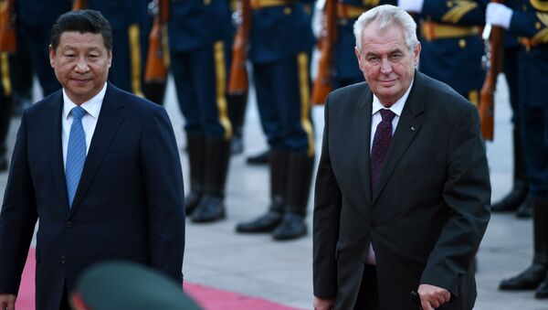 Miloš Zeman a Si Ťin-pching - Sputnik Česká republika