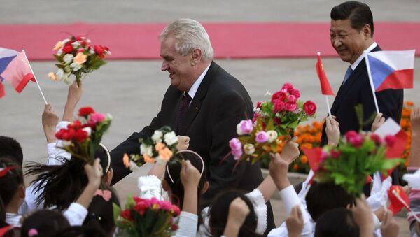 Miloš Zeman v Číně - Sputnik Česká republika