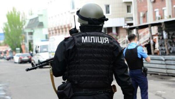 Příslušník ukrajinské policie - Sputnik Česká republika