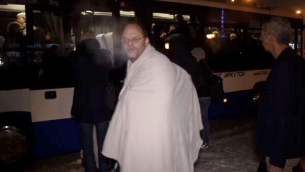 Cestující letu Air France z Paříže do Šanghaje během nuceního přistání v ruském Irkutsku. - Sputnik Česká republika