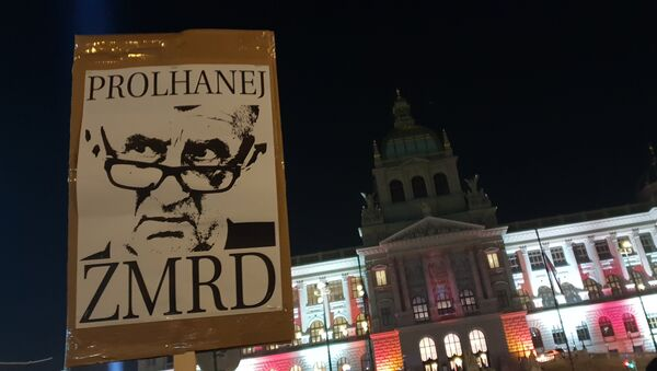 Demonstrace na Václavském náměstí proti Babišovi - Sputnik Česká republika