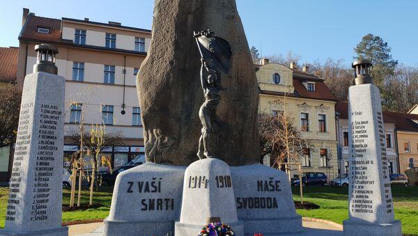 Pomník padlým v I. světové na Zbraslavi - Sputnik Česká republika